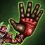 Main démesurée (Mutation) : L'une des mains du joueur est devenue gigantesque mais est toujours opérationnelle. Le joueur peut ignorer les modificateurs de Zones de Tacle adverses et ceux dus à une Averse lorsqu'il tente de Ramasser le ballon.