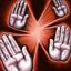 Blocage multiple (Force) : Au début d'une action de Blocage, un joueur adjacent à au moins deux adversaires peut choisir d'effectuer un blocage contre deux d'entre eux. Effectuez chaque blocage normalement, l'un après l'autre excepté que la Force de chaque défenseur est augmentée de 2. Le joueur ne peut poursuivre après ses blocages lorsqu'il utilise cette compétence. Ainsi BLOCAGE MULTIPLE peut être utilisé à la place de FRENESIE, mais ces deux compétences ne peuvent pas être utilisées ensemble. Pour pouvoir lancer le deuxième blocage, le joueur doit toujours être debout à la fin du premier.