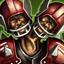 Deux têtes (Mutation) : Avoir DEUX TETES permet au joueur de voir en même temps l'endroit où il va et les adversaires qui tentent de l'en empêcher. Ajoutez +1 à tous les jets d'Esquive effectués par le joueur.